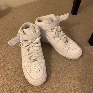 Nike AirForce White High Rise Sneakers
